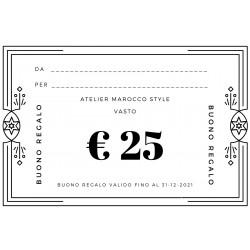 BUONO REGALO € 25 + SCONTO 30%
