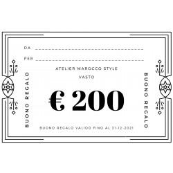 BUONO REGALO € 200 + SCONTO...